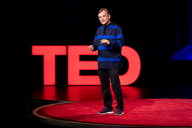 Chris Anderson speaks at TEDSummit: A Community Beyond Borders. July 21-25, 2019, Edinburgh, Scotland. Photo: Bret Hartman / TED